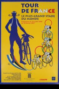 Affiche Tour de France Le plus grande stade du monde