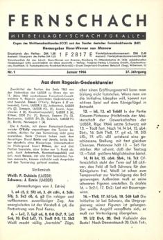 Fernschach 1966