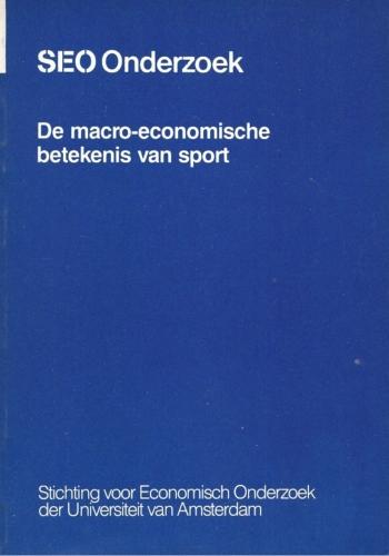 Macro-economische betekenis van sport