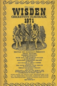 Wisden Cricketers Almanack 1971
