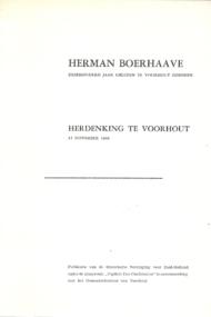 Herman Boerhaave. Driehonderd jaar geleden te Voorhout geboren