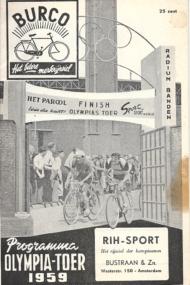 Programma Olympia-Toer 1959