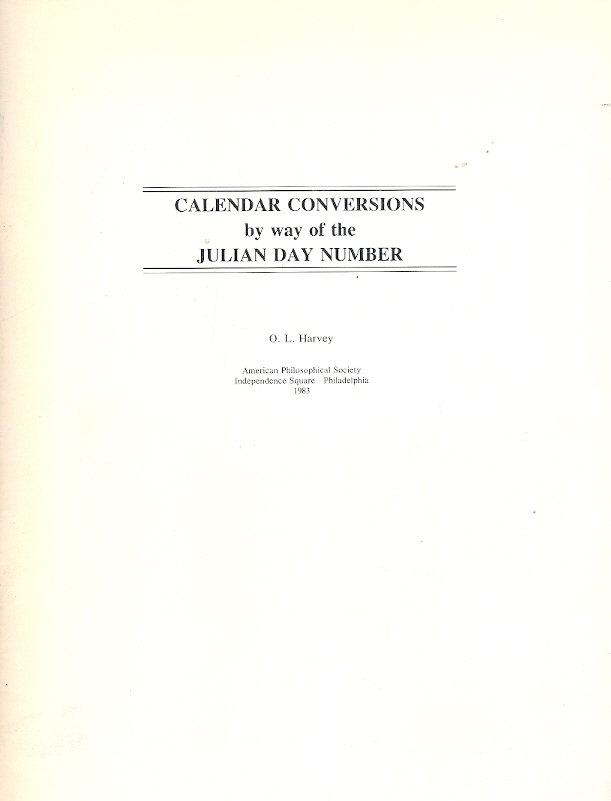 Calendar Conversions by Way of the Julian Day Number