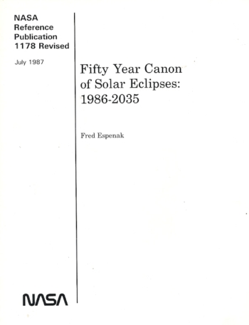 Fifty Year Canon Solar Eclipses 1986-2035, Nr. 1178