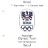 Seoul 88 Austria Osterreichische Olympia-Mannschaft