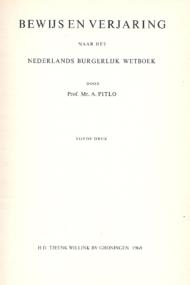 Bewijs en verjaring naar het Nederlands Burgerlijk Wetboek