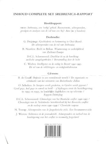 Inhoud Sebrenica Rapport