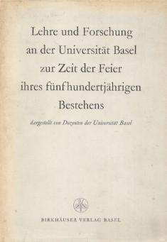 Lehre und forschung an der Universitat Basel