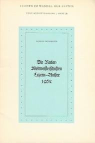 Ruder Weltmeisterschaften Luzern-Rotsee 1962