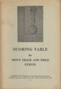 Scoring Table for Men's Track