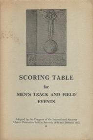 Scoring Table for Men's Track