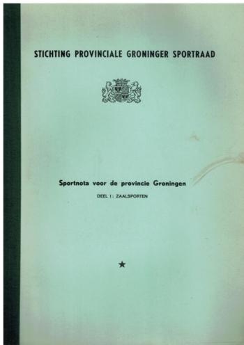 Sportnota voor de provincie Groningen