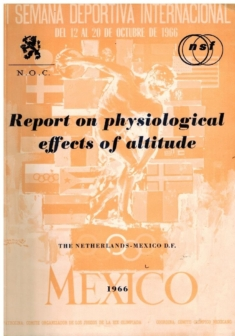 Report on physiological effects of altitude