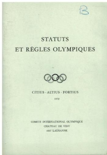 Status et Regles Olympiques