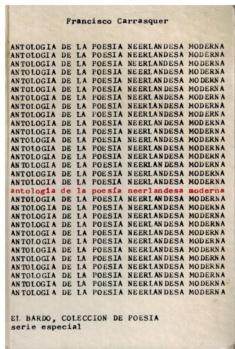 Antologia de la poesia neerlandesa moderna