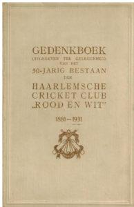 Haarlemsche Cricket Club Rood en Wit