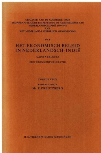 ekonomisch beleid in Nederlandsch-Indie 1900-1942