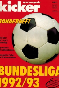 Kicker Sonderheft: Bundesliga 1992/93