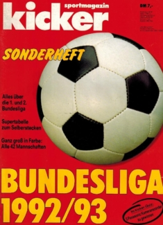 Kicker Sonderheft: Bundesliga 1992/93