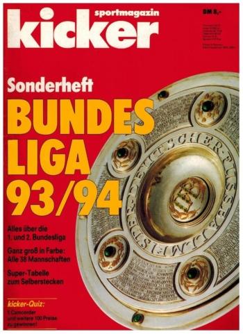 Kicker Sonderheft Bundesliga 1993/94