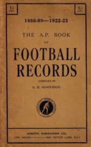 Athletic Publication Book of Football Records