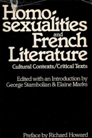 Homosexualities and French Literature.