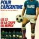 L'equipe de France pour l'Argentine