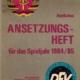 Ansetzungsheft Spieljahr 1984/85